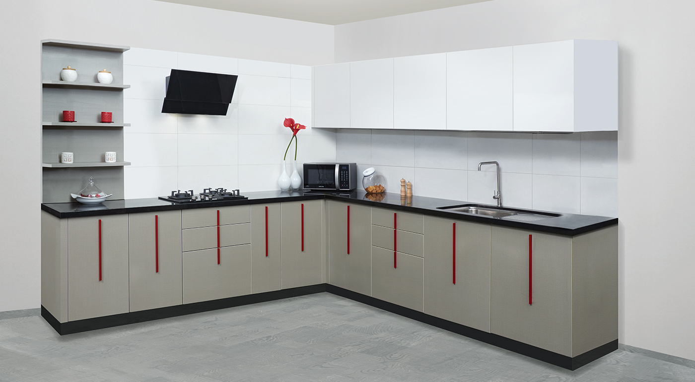 L Shaped Kitchen Design Modular Kitchen Saviesa Practica